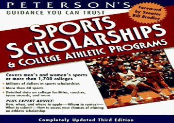 [+][PDF] TOP TREND Peterson s Sports Scholarships and College Athletic Programs in the U.S.A. (3rd ed)  [READ]