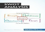 [+]The best book of the month The SWOT Analysis: Develop strengths to decrease the weaknesses of your business  [FREE]