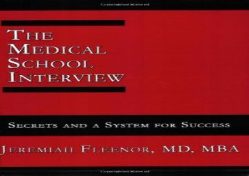 [+]The best book of the month The Medical School Interview: Secrets and a System for Success  [FREE]