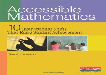 [+]The best book of the month Accessible Mathematics: Ten Instructional Shifts That Raise Student Achievement  [FREE]