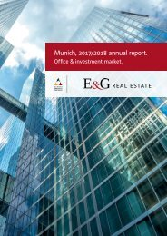 E & G Office Market Report Munich 2017-2018
