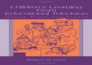 [+][PDF] TOP TREND Children s Learning From Educational Television: Sesame Street and Beyond (LEA s Communication)  [NEWS]