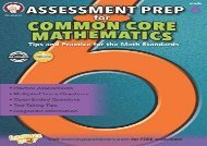 [+][PDF] TOP TREND Assessment Prep for Common Core Mathematics, Grade 6 (Commom Core Math Literacy)  [NEWS]
