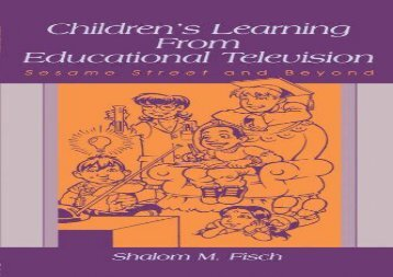 [+][PDF] TOP TREND Children s Learning From Educational Television: Sesame Street and Beyond (Lea s Communication Series)  [DOWNLOAD]