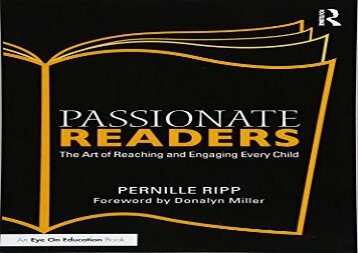 [+]The best book of the month Passionate Readers: The Art of Reaching and Engaging Every Child  [DOWNLOAD]