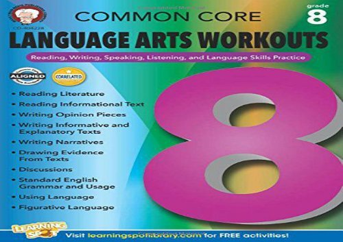 The best book of the month Common Core Language Arts Workouts, Grade