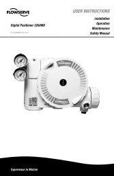 USER INSTRUCTIONS - Flowserve Corporation