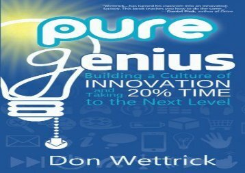 [+]The best book of the month Pure Genius: Building a Culture of Innovation and Taking 20% Time to the Next Level  [NEWS]