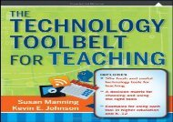 [+][PDF] TOP TREND The Technology Toolbelt for Teaching (Jossey-Bass Higher and Adult Education (Paperback))  [FULL]