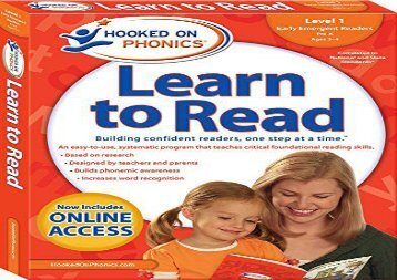 [+][PDF] TOP TREND Hooked on Phonics Learn to Read - Level 1: Early Emergent Readers (Pre-K - Ages 3-4)  [DOWNLOAD]