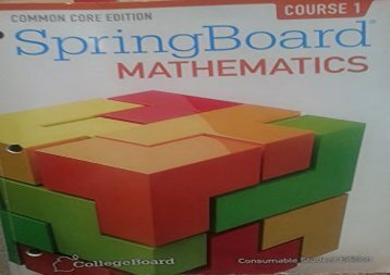 [+]The best book of the month Common Core Springboard Mathematics- Consumable Student Edition  [FULL]