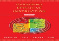 [+][PDF] TOP TREND Designing Effective Instruction  [FREE]