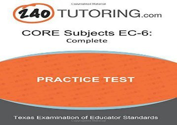 [+]The best book of the month CORE Subjects EC-6 Practice Test: A complete CORE Subjects EC-6 Practice Test  [FREE]
