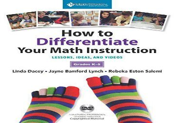 [+][PDF] TOP TREND How to Differentiate Your Math Instruction, Grades K-5: Lessons, Ideas, and Videos with Common Core Support  [NEWS]