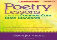 [+]The best book of the month Poetry Lessons to Meet the Common Core State Standards: Exemplar Poems with Engaging Lessons and Response Activities That Help Students Read, Understand, and Appreciate Poetry  [FREE]