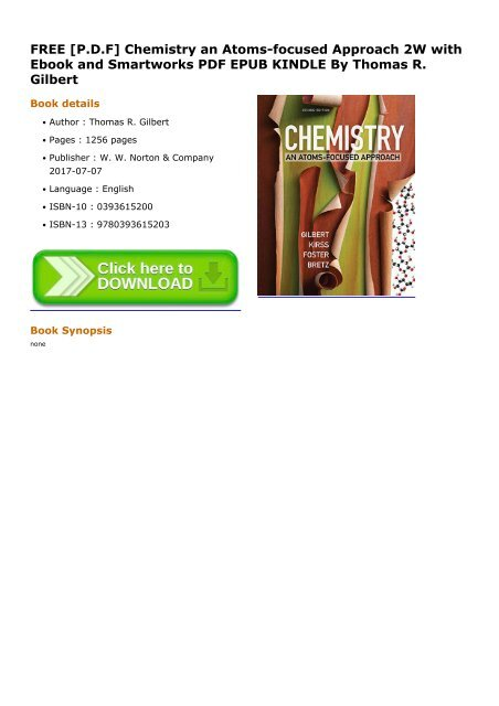 Chemistry An Atoms-focused Approach Pdf