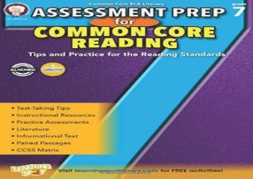 [+][PDF] TOP TREND Assessment Prep for Common Core Reading, Grade 7  [FREE]