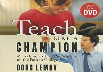 [+]The best book of the month Teach Like a Champion: 49 Techniques That Put Students on the Path to College (Your Coach in a Box)  [FREE]