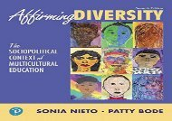 [+][PDF] TOP TREND Affirming Diversity: The Sociopolitical Context of Multicultural Education (What s New in Foundations / Intro to Teaching) [PDF]