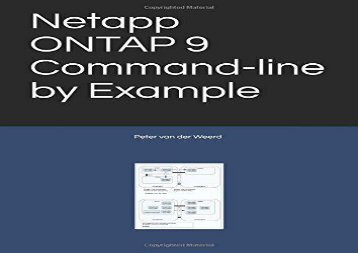 [+]The best book of the month Netapp ONTAP 9 Command-line by Example  [NEWS]