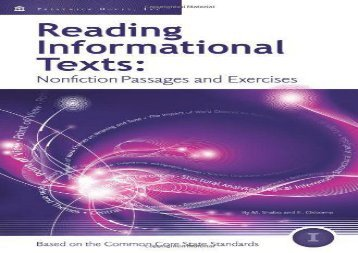 [+][PDF] TOP TREND Reading Informational Texts, Book I: Nonfiction Passages and Exercises Based on the Common Core State Standards (Student Edition)  [NEWS]