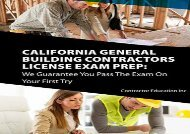[+][PDF] TOP TREND California Contractors License Exam Prep: We Guarantee You Pass The Exam On Your First Try  [NEWS]