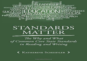 [+]The best book of the month Standards Matter: The Why and What of Common Core State Standards in Reading and Writing  [FULL]