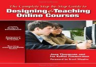 [+][PDF] TOP TREND The Complete Step-by-Step Guide to Designing and Teaching Online Courses  [FULL]