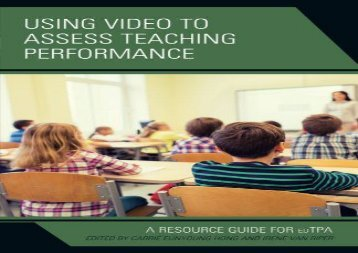 [+]The best book of the month Using Video to Assess Teaching Performance  [FREE]