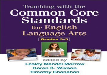 [+][PDF] TOP TREND Teaching with the Common Core Standards for English Language Arts, Grades 3-5  [FREE]