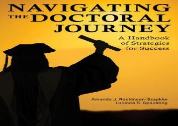 [+][PDF] TOP TREND Navigating the Doctoral Journey: A Handbook of Strategies for Success  [DOWNLOAD]