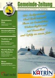 Gemeinde-Zeitung - Stadtgemeinde Bad Ischl