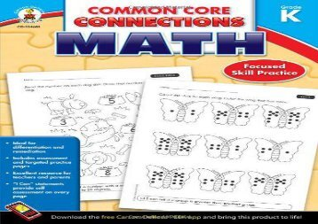 [+]The best book of the month Common Core Connections Math, Grade K  [NEWS]