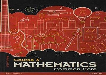 [+]The best book of the month PH Mathematics Common Core Course 3  [NEWS]