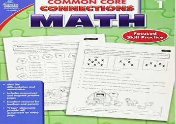 [+]The best book of the month Common Core Connections Math, Grade 1  [DOWNLOAD]