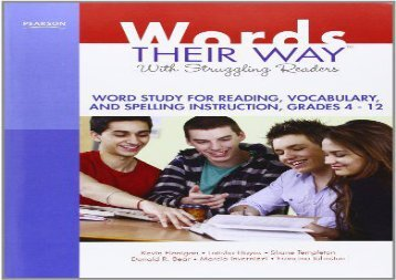[+]The best book of the month Words Their Way with Struggling Readers: Word Study for Reading, Vocabulary, and Spelling Instruction, Grades 4-12  [READ]