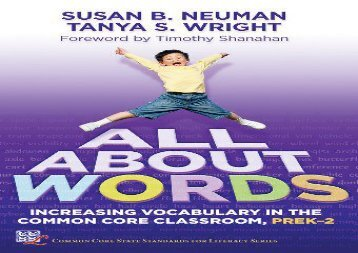 [+]The best book of the month All About Words: Increasing Vocabulary in the Common Core Classroom, Pre K-2 (Common Core State Standards in Literacy)  [READ]