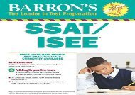 [+][PDF] TOP TREND Barron s Ssat/Isee, 4th Edition: High School Entrance Examinations [PDF]