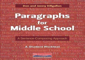 [+][PDF] TOP TREND Paragraphs for Middle School: A Sentence-Composing Approach: A Student Worktext  [FULL]