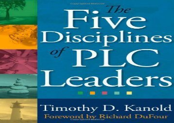 [+][PDF] TOP TREND The Five Disciplines of Plc Leaders [PDF]