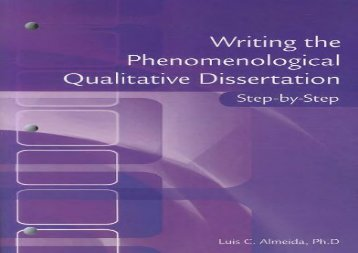 [+][PDF] TOP TREND Writing the Phenomenological Qualitative Dissertation Step-By-Step [PDF]