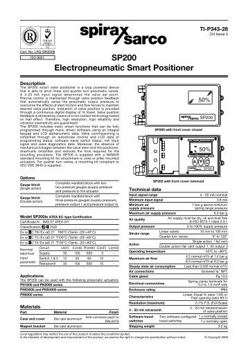 spirax sarco ep5 positioner manual