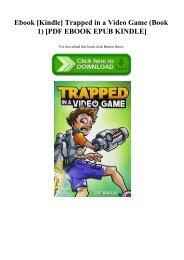 Ebook [Kindle] Trapped in a Video Game (Book 1) [PDF EBOOK EPUB KINDLE]