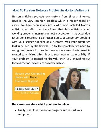 How to fix your network problem in Norton antivirus?
