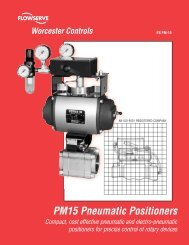 Worcester Controls PM15 Series Pneumatic Positioners Brochure