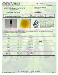 ProVerde Analysebericht SPARROW CannaWay 2000 mg CBD
