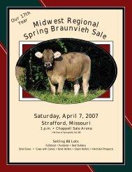Saturday, April 7, 2007 - Missouri Braunvieh Association
