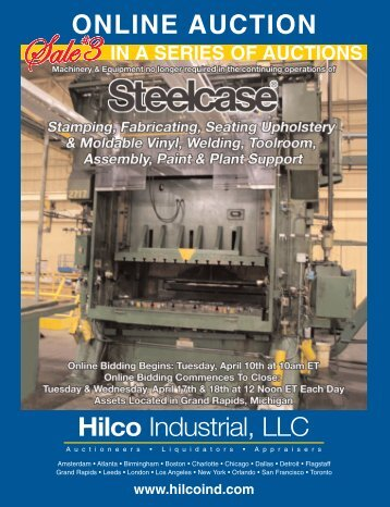 To schedule an auction, please contact us at ... - Hilco Industrial