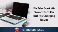 How To Fix MacBook Air Won't Turn On But It's Charging Issues +1-800-608-5461 