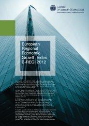 European Regional Economic Growth Index E-REGI 2012 - LaSalle ...
